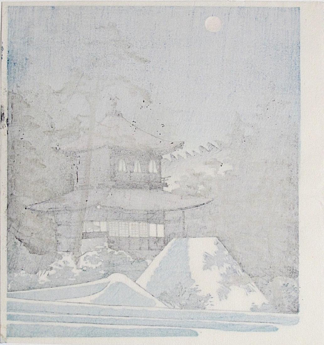 Tomikichiro Tokuriki Woodblock Silver Pavillion - 2