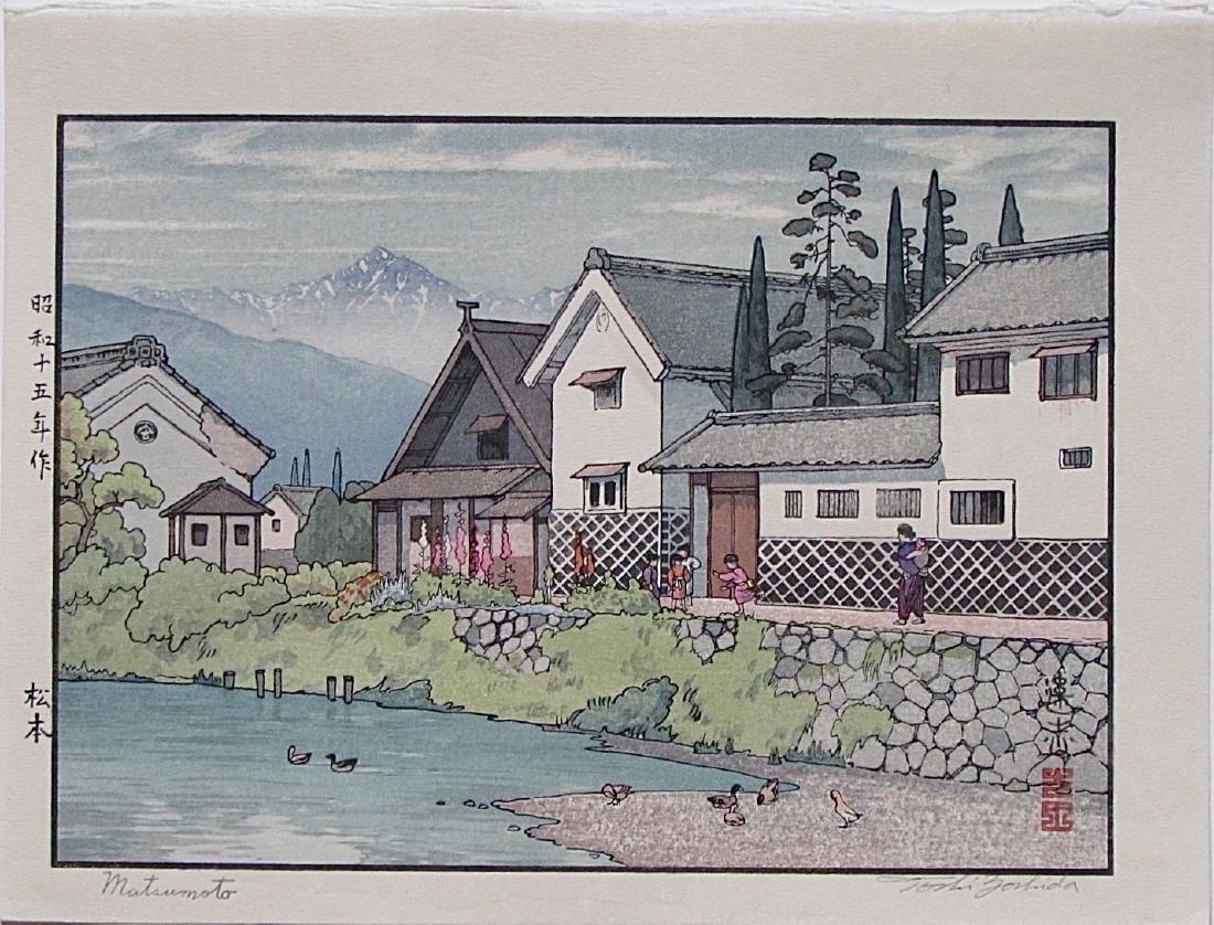 Toshi Yoshida Woodblock Matsumoto