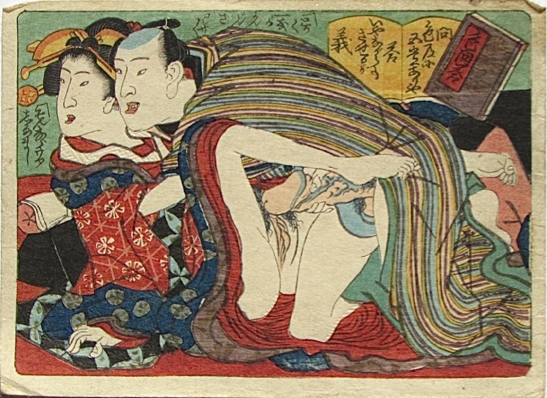 Utagawa School Woodblock Shunga