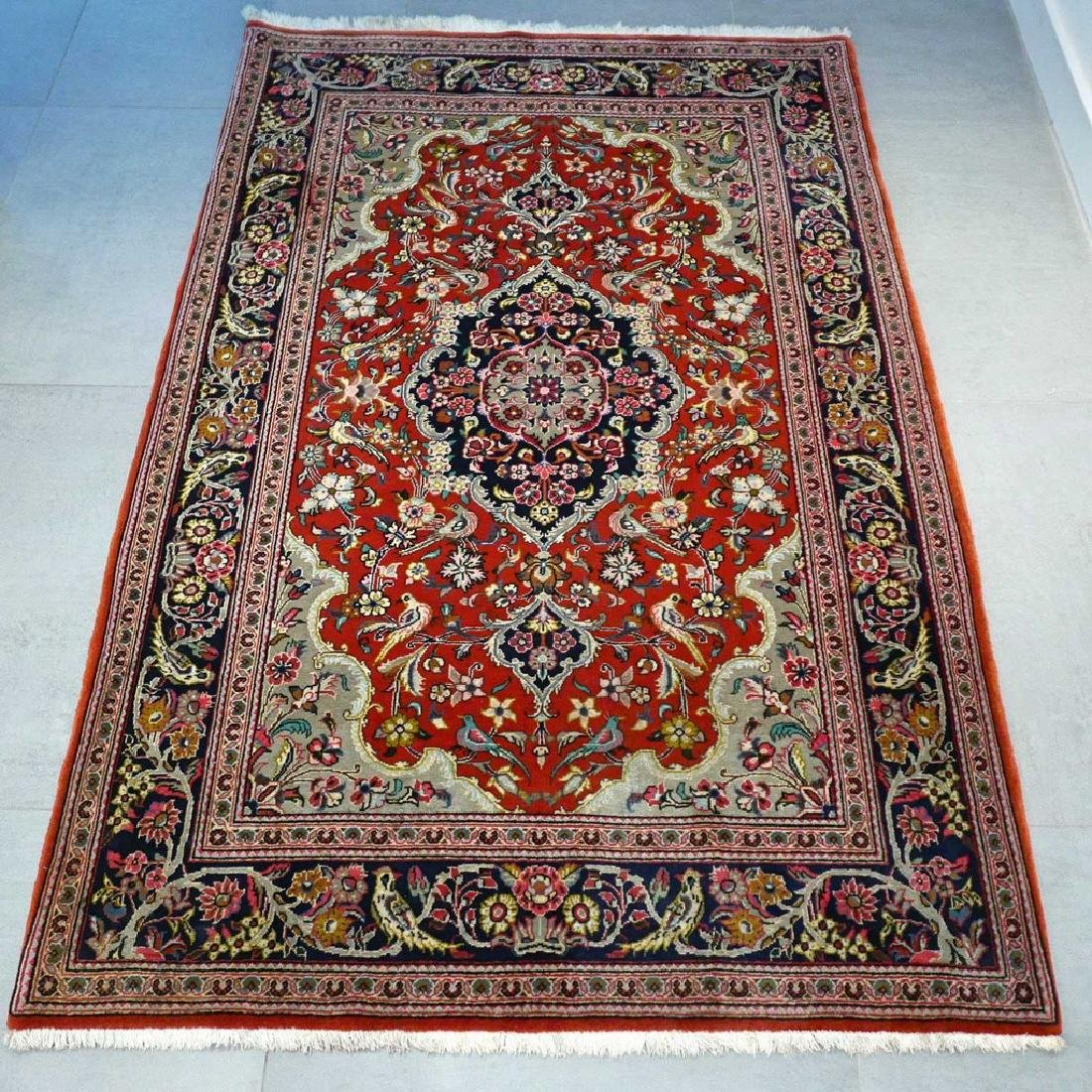 Qum Kork Wool on Cotton Rug 5.4x3.6