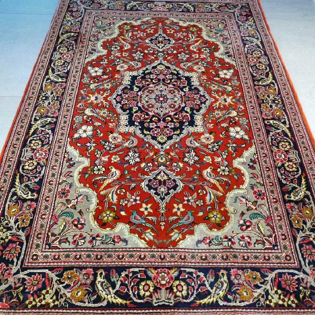 Qum Kork Wool on Cotton Rug 5.4x3.6 - 6