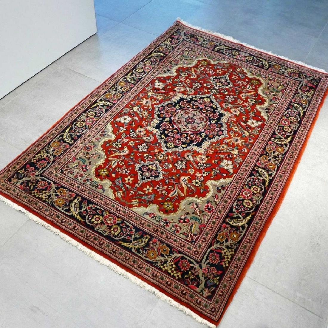 Qum Kork Wool on Cotton Rug 5.4x3.6 - 7