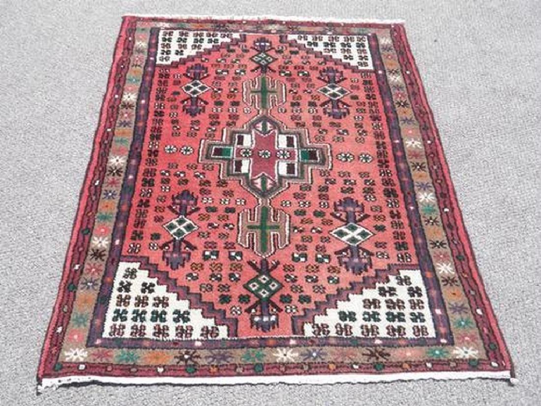 Hand Woven Persian Hamadan Rug 3x4.4