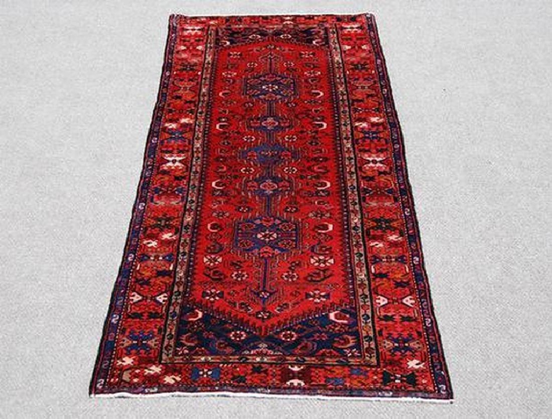 Semi Antique Persian Hamedan Rug 3.7x9.11