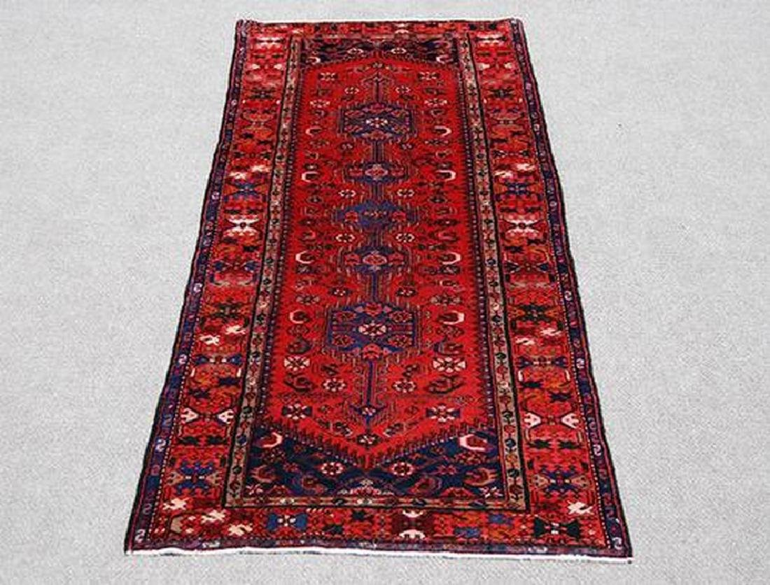 Semi Antique Persian Hamedan Rug 3.7x9.11