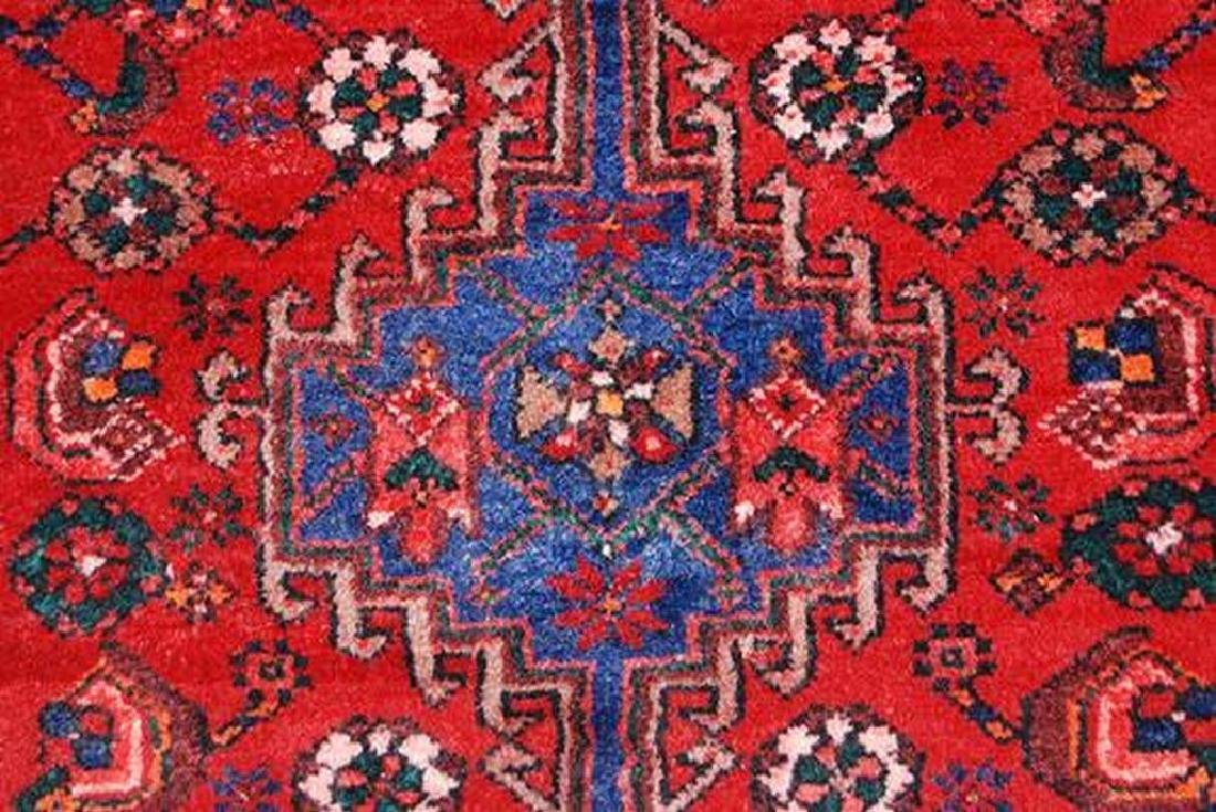 Semi Antique Persian Hamedan Rug 3.7x9.11 - 4