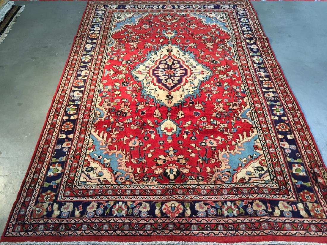 Hand Knotted Wool Persian Tabriz Rug 6.10x10.2