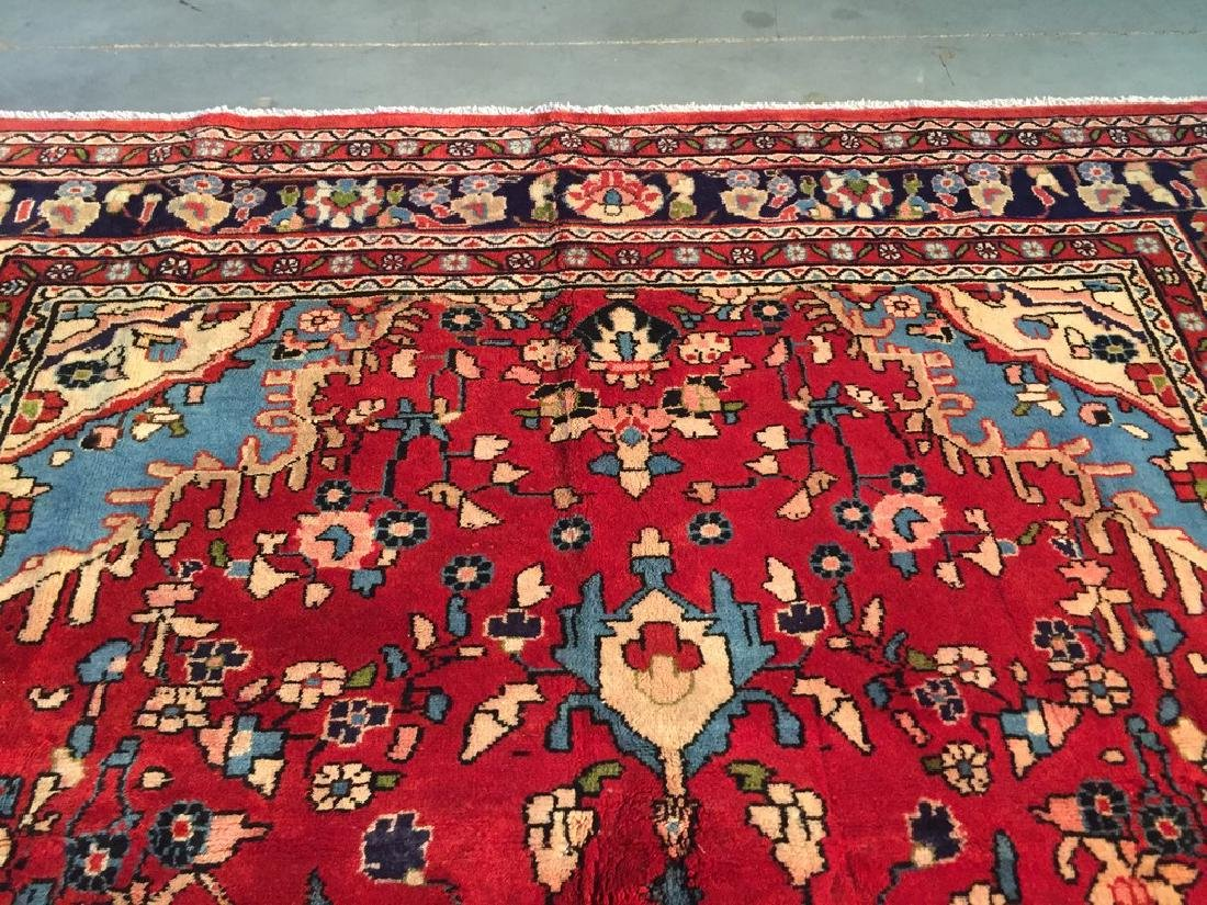Hand Knotted Wool Persian Tabriz Rug 6.10x10.2 - 4