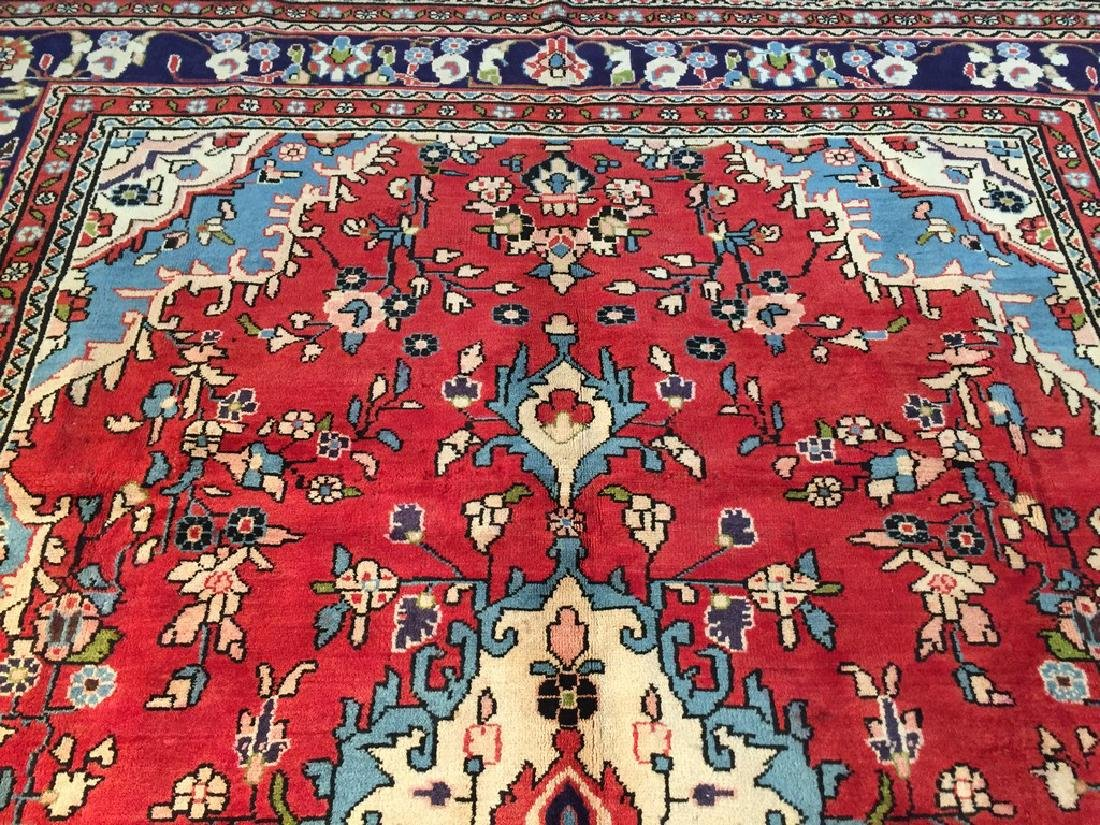 Hand Knotted Wool Persian Tabriz Rug 6.10x10.2 - 6