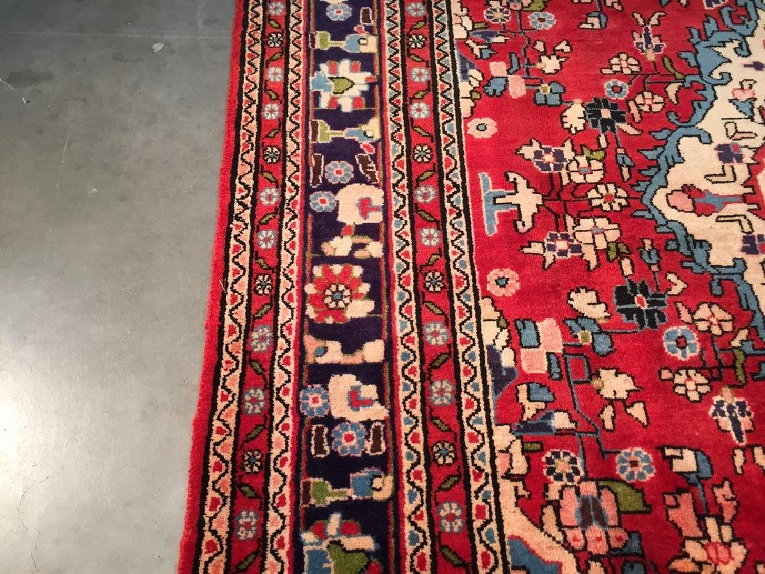 Hand Knotted Wool Persian Tabriz Rug 6.10x10.2 - 7