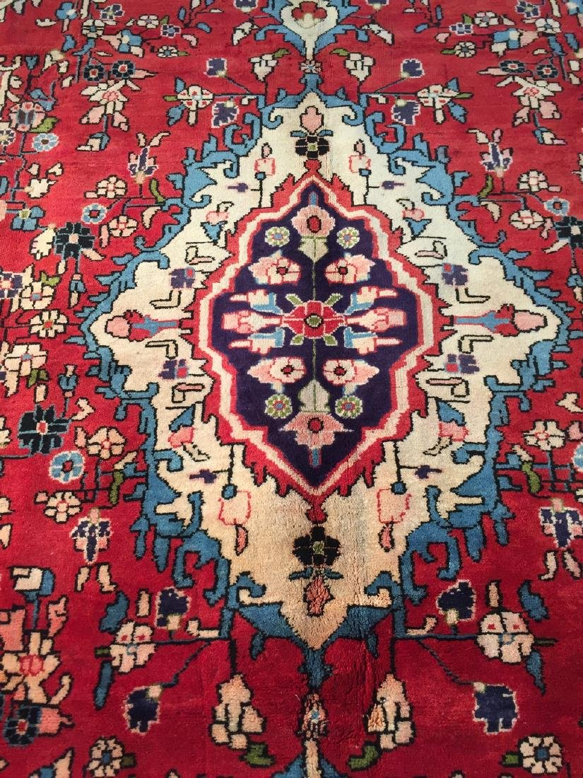 Hand Knotted Wool Persian Tabriz Rug 6.10x10.2 - 8
