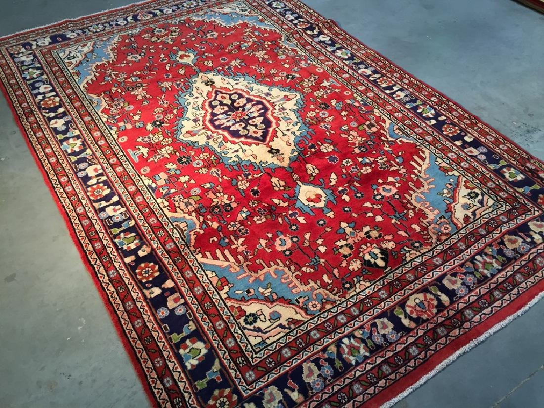 Hand Knotted Wool Persian Tabriz Rug 6.10x10.2 - 9