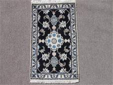 Handmade Wool & Silk Persian Nain Rug 3x1.10