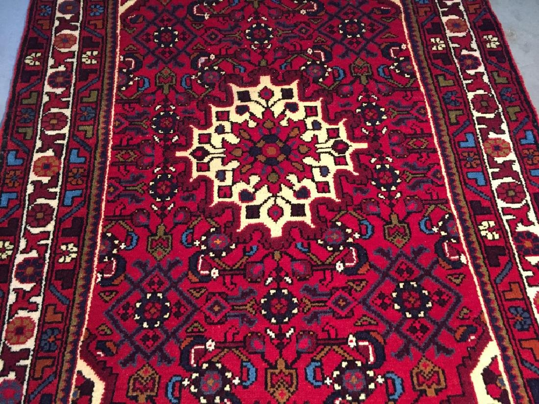 Authentic Hand Knotted Persian Hamadan Rug 3.3x4.6 - 4