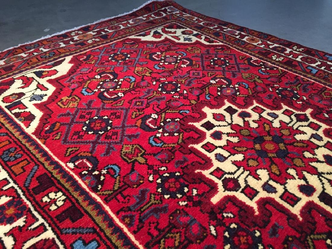 Authentic Hand Knotted Persian Hamadan Rug 3.3x4.6 - 7