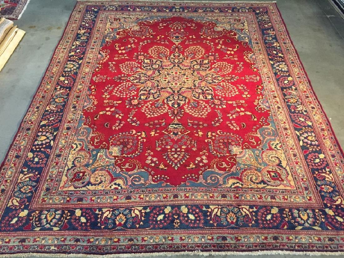 Authentic Persian Kashmar Masterpiece Rug 9.5x13.5