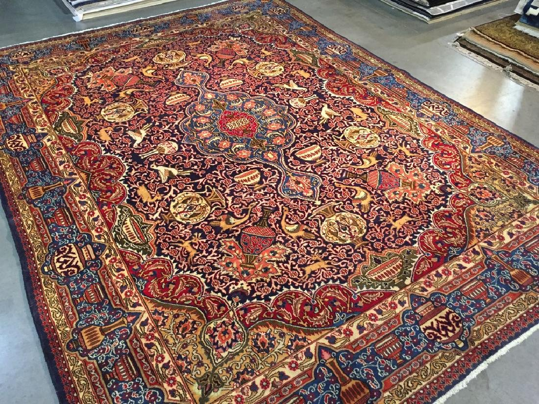 Authentic Persian Kashmar Masterpiece Rug 9.5x12.7 - 10