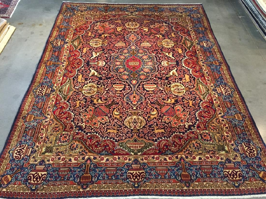 Authentic Persian Kashmar Masterpiece Rug 9.5x12.7