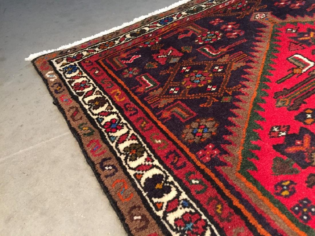 Authentic Hand Knotted Persian Hamadan Rug 3.5x4.10 - 2