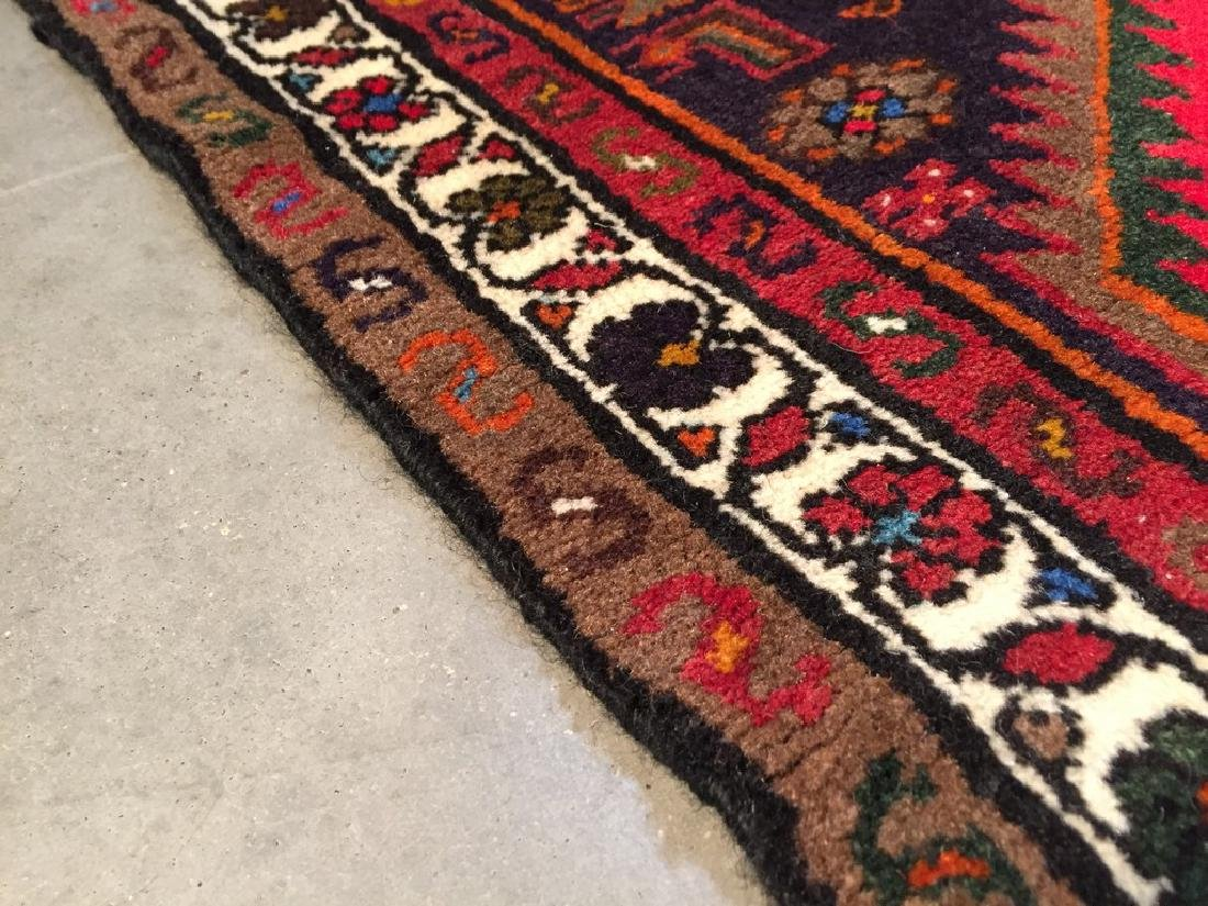 Authentic Hand Knotted Persian Hamadan Rug 3.5x4.10 - 3
