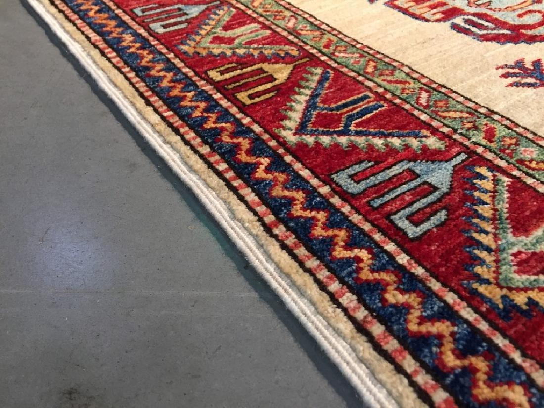 Fine Hand Knotted Wool Afghan Kazak Runner Rug 2.10x9.3 - 3