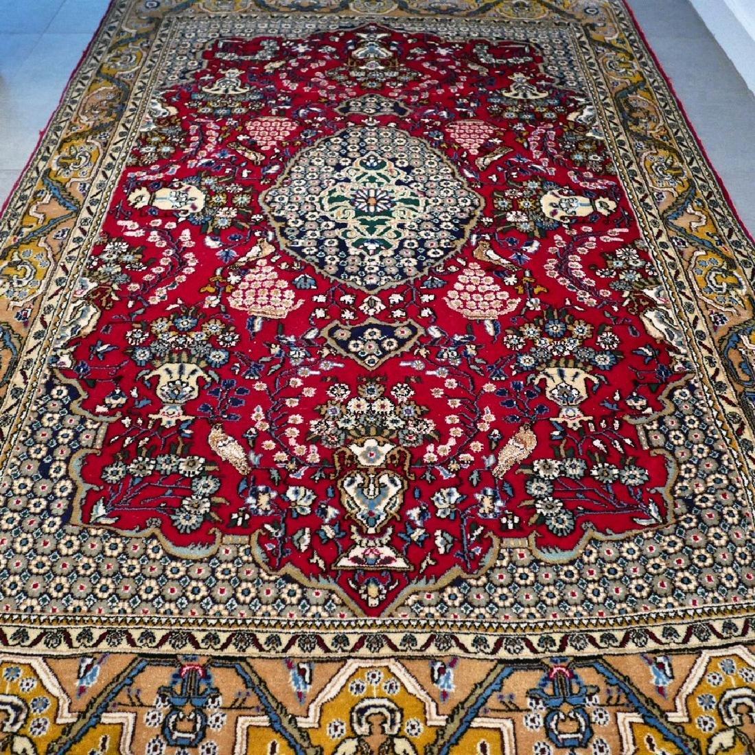 Silk Semi Antique Qum Rug 7.2x4.6 - 7
