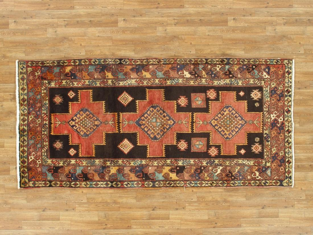 Vintage Persian Hamadan Rug 3.10x8.2 - 3