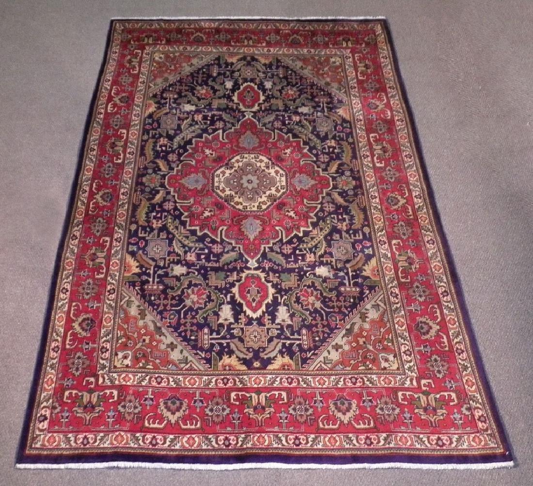 Semi Antique Persian Tabriz Rug 6.7x9.7