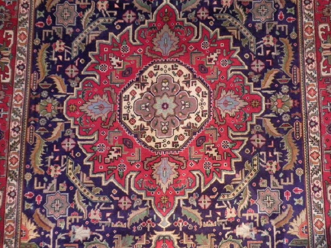 Semi Antique Persian Tabriz Rug 6.7x9.7 - 4