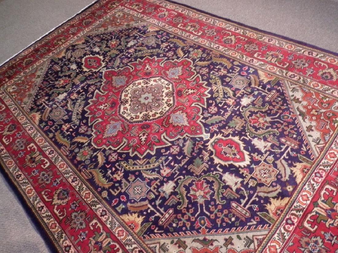 Semi Antique Persian Tabriz Rug 6.7x9.7 - 5