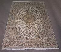 Semi Antique Persian Kashan Rug 6.5x9.8
