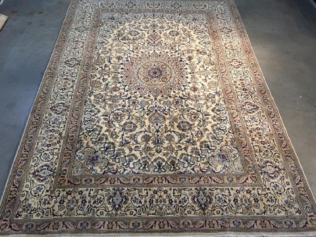 Antique Silk & Wool Persian Nain Rug 8x11.3