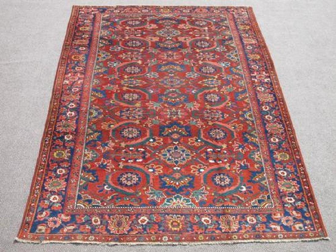 Soft Wool Pile Semi Antique Persian Bokhara Rug 7x10.11