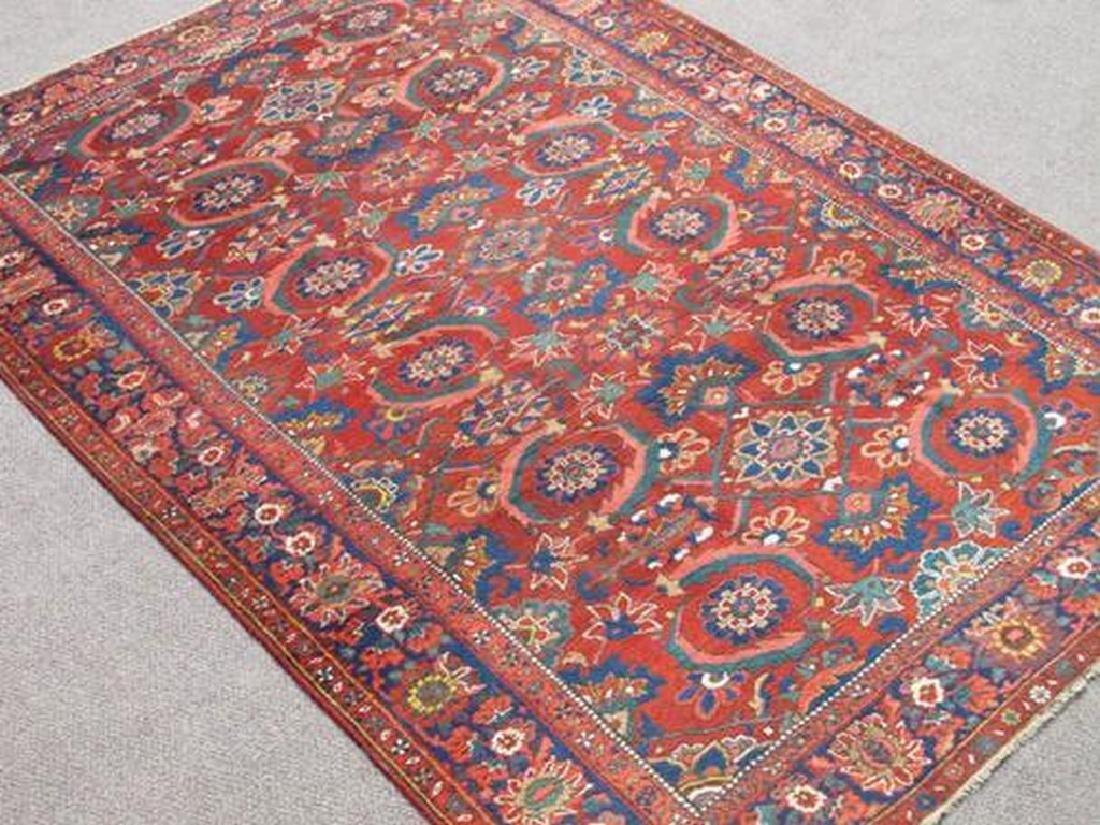 Soft Wool Pile Semi Antique Persian Bokhara Rug 7x10.11 - 2