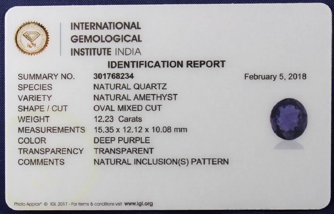 Three IGI Certified Amethyst 43.14 Carat Loose total - 4