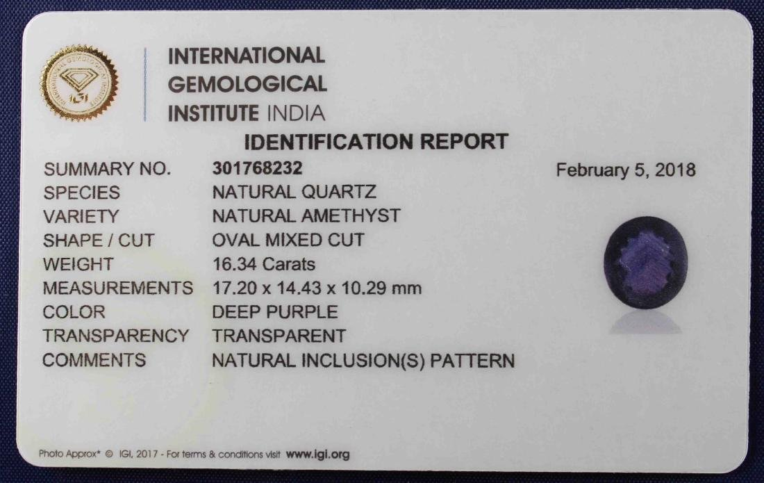 Three IGI Certified Amethyst 43.14 Carat Loose total - 5