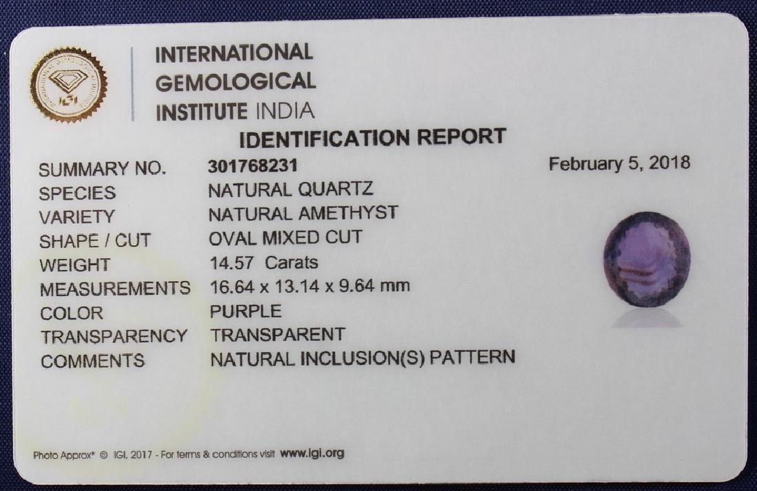 Three IGI Certified Amethyst 43.14 Carat Loose total - 6