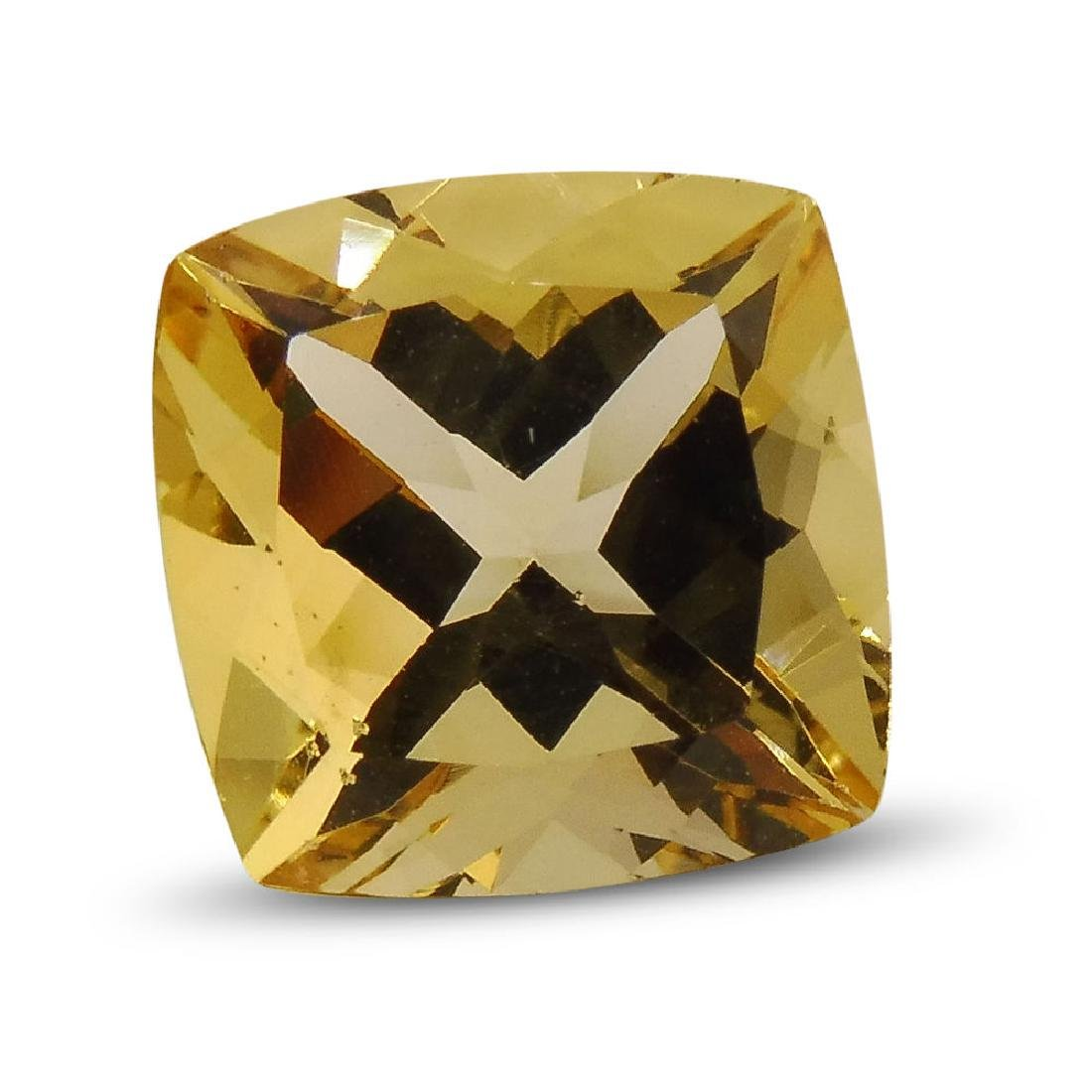 2.7 Carat Loose Square Cushion Heliodor