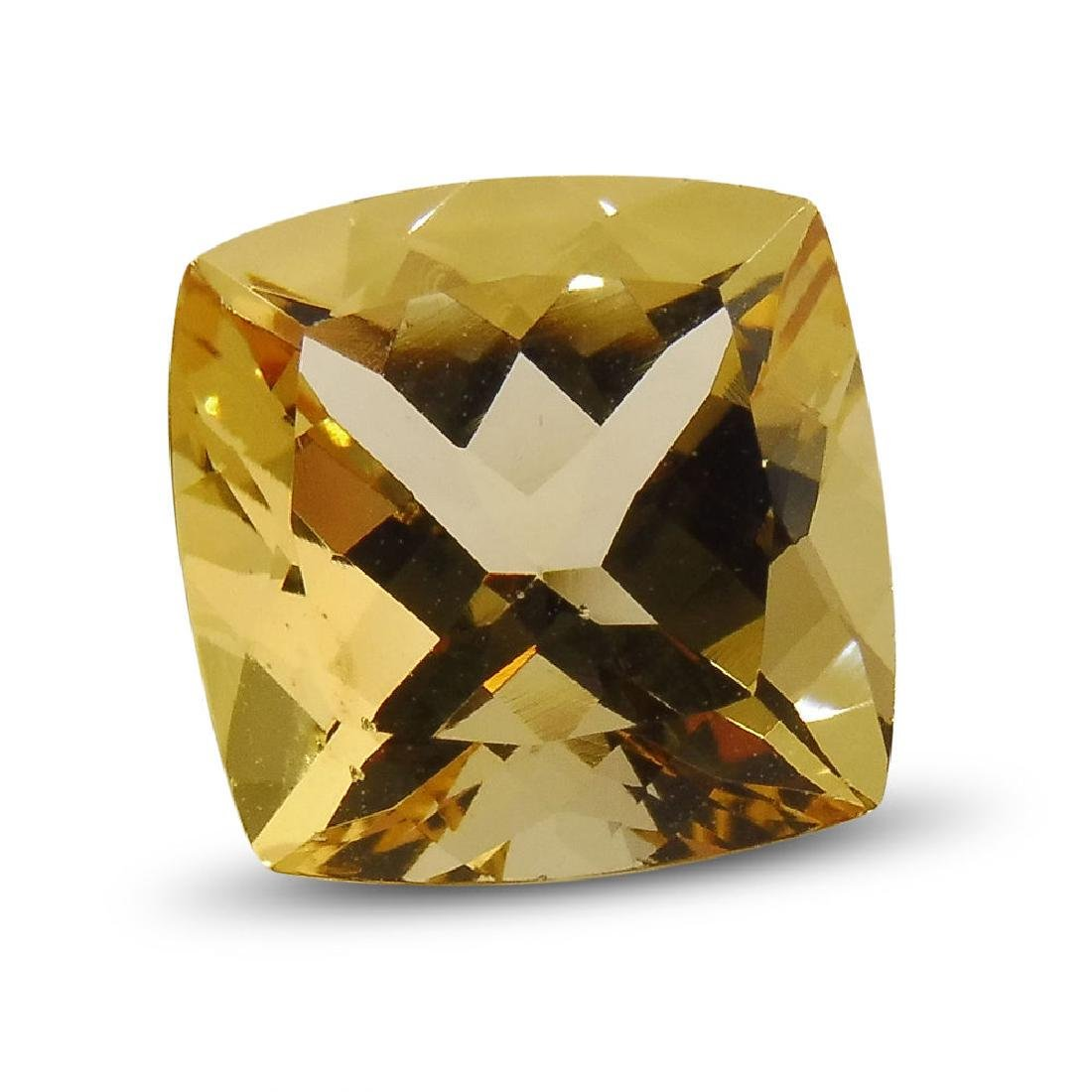 2.7 Carat Loose Square Cushion Heliodor - 2