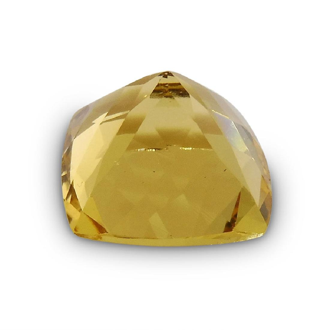 2.7 Carat Loose Square Cushion Heliodor - 5