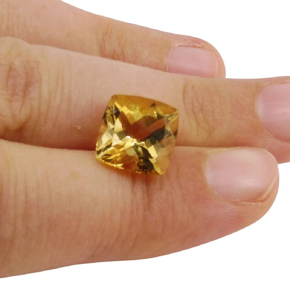 2.7 Carat Loose Square Cushion Heliodor - 6