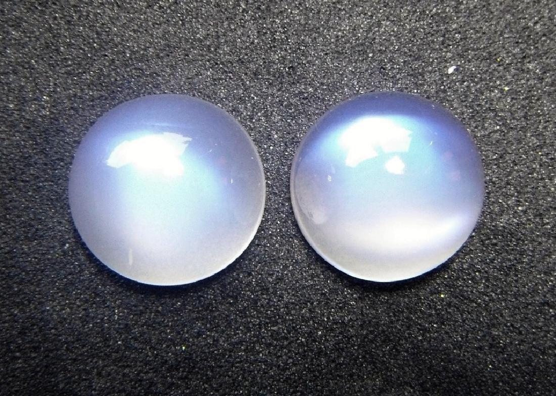 Rainbow Moonstone pair 10.40 Carat Loose