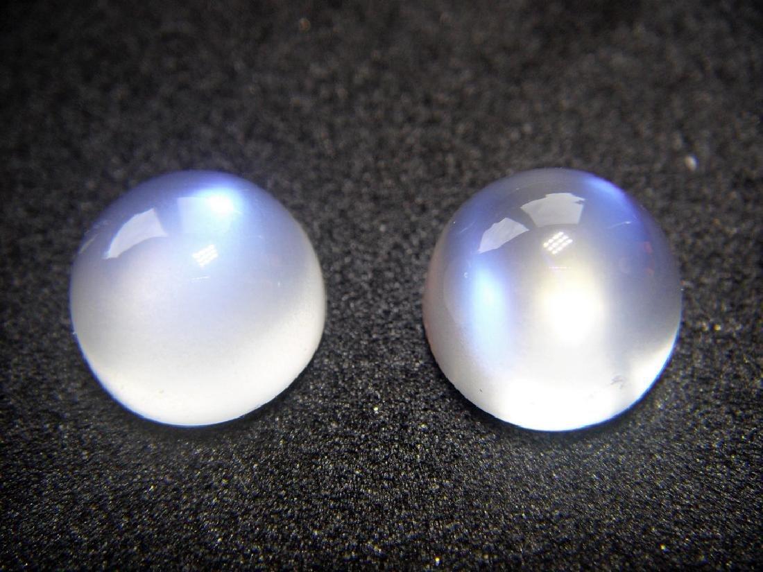 Rainbow Moonstone pair 10.40 Carat Loose - 3