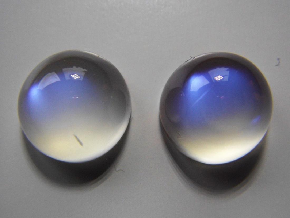 Rainbow Moonstone pair 10.40 Carat Loose - 4