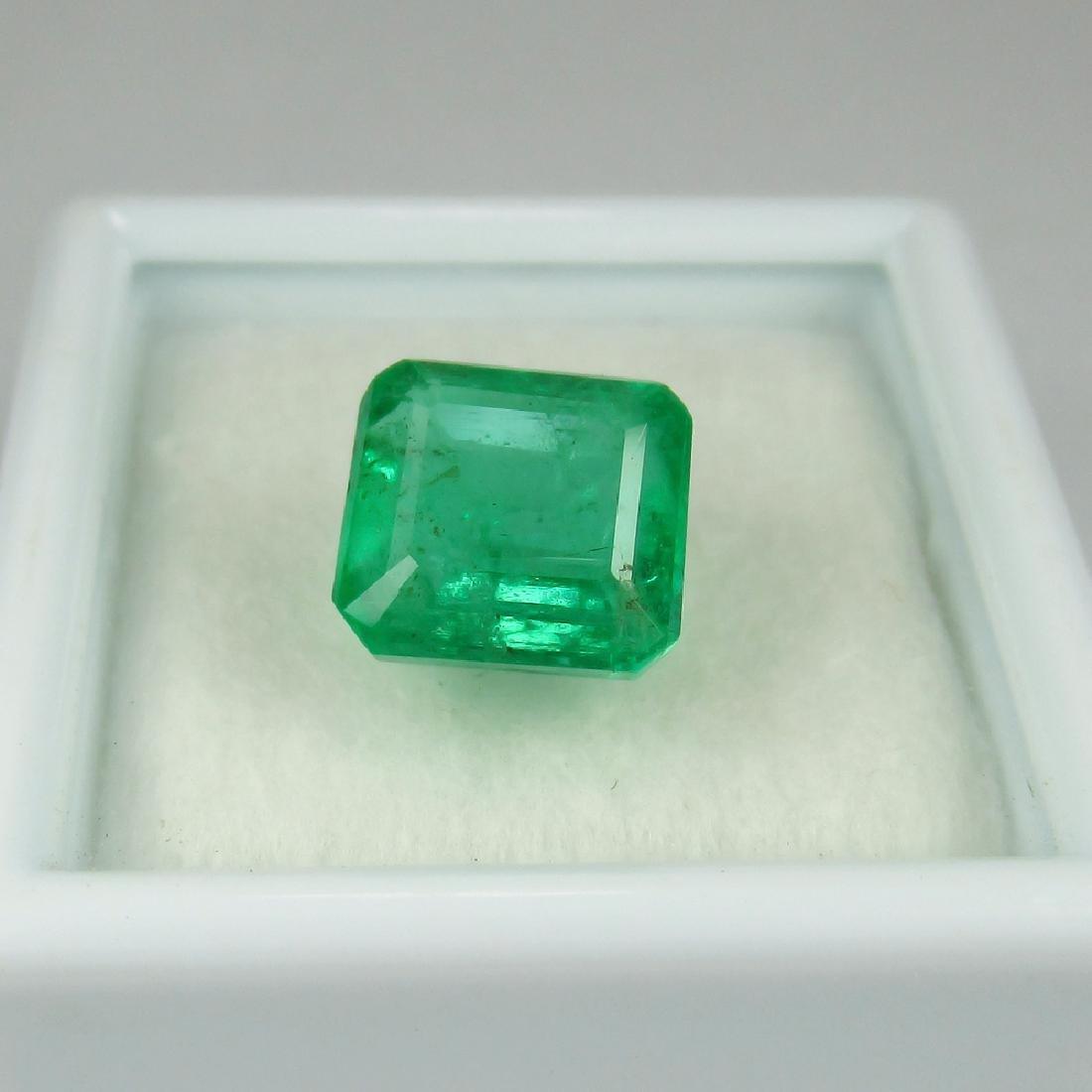 3.24 Carat Natural Loose Emerald Octagon - 3
