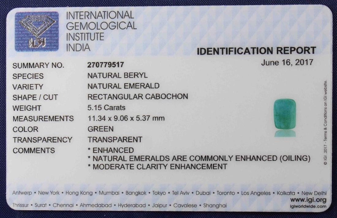 5.15 Carat Loose IGI Certified Emerald - 6