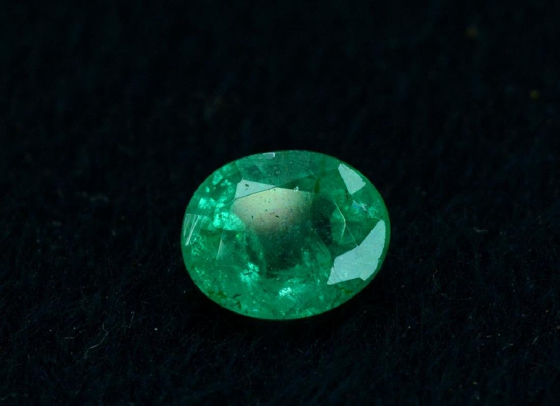 1.30 Carat Natural Loose Emerald - 3