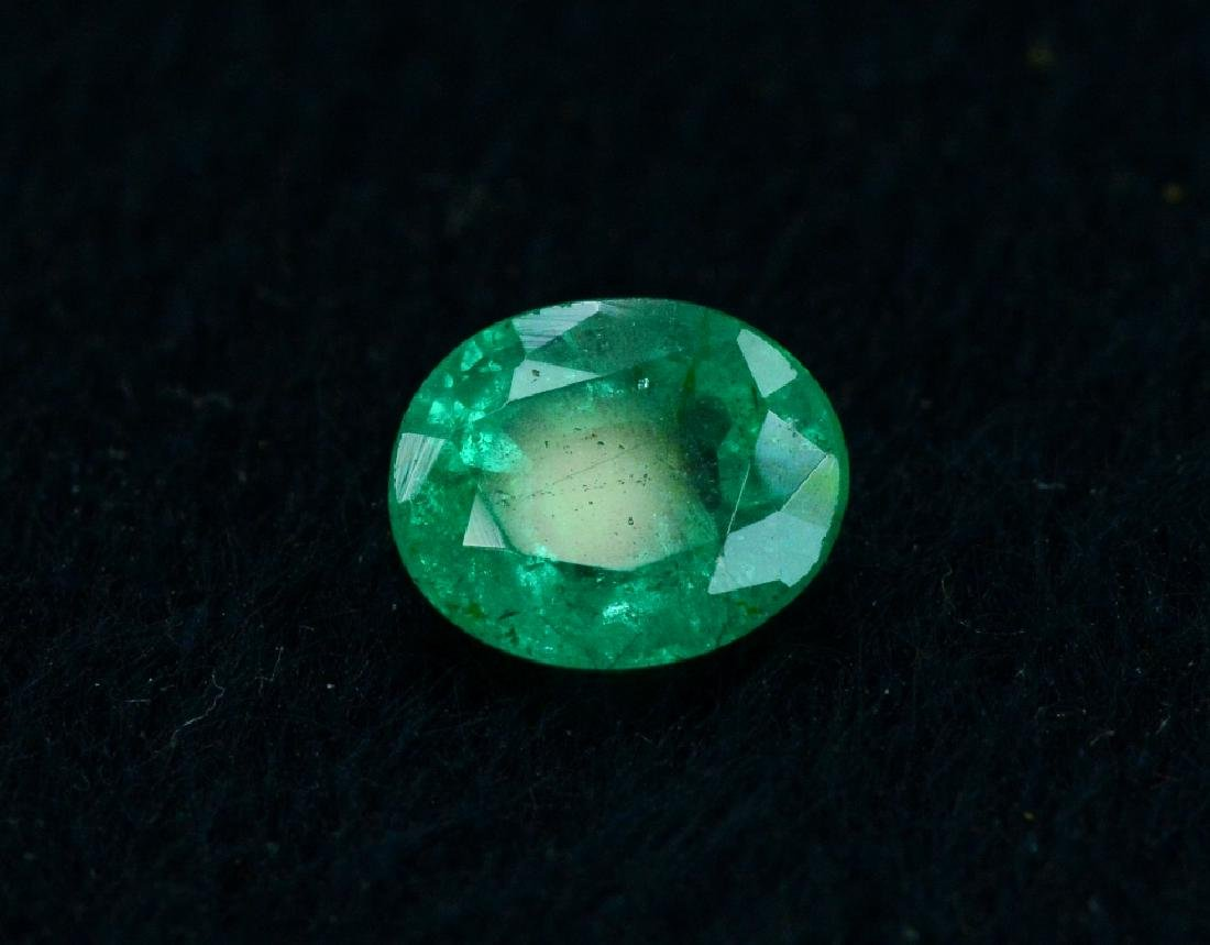 1.30 Carat Natural Loose Emerald - 6