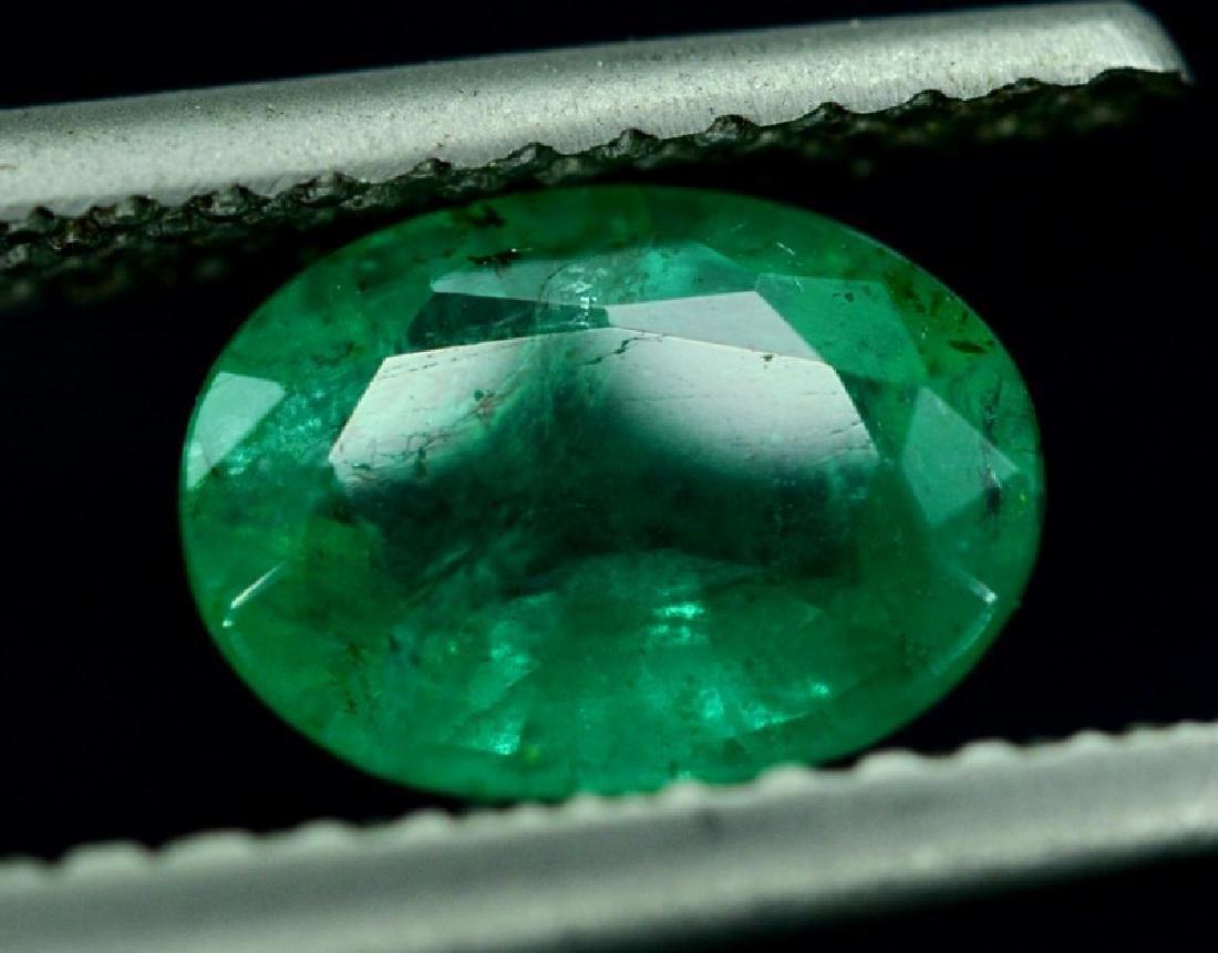 1.65 Carat Untreated Zambian Emerald Gemstone - 2