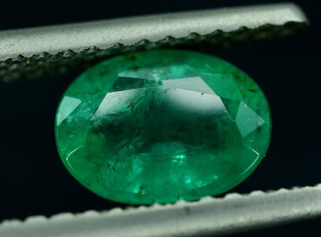 1.65 Carat Untreated Zambian Emerald Gemstone - 3